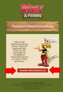 Dieser Button in der E-Mail öffnet in Deinem Browser die Seite, auf der Du das neue Passwort eingibst